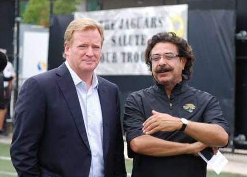 Shahid Khan and NFL Commissioner Roger Goodell