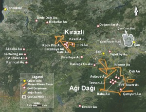 Kirazli and Agi Dagi -Alamos' two large development projects in Turkey