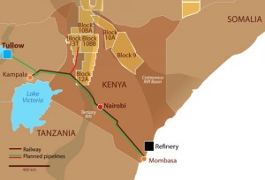 Map of Africa Oil's Kenyan Discoveries (Company)