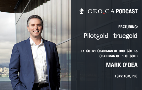 Mark O'Dea of Oxygen Capital, True Gold and Pilot Gold joins the CEO.CA podcast