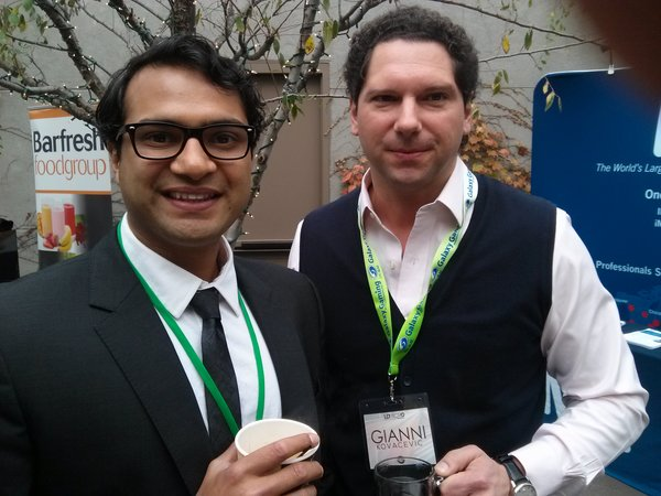 Photo: Vinny with writer and Vancouver, Canada, investor Gianni Kovacevic