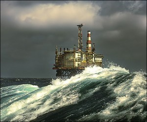 The North Sea has been a prominent place for oil and gas exploration but is also one of the most harsh with waves exceeding 30m high (Photo: Terry Cavner)
