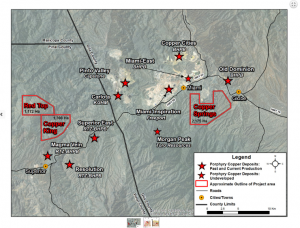 Desert Star's copper projects are situated next to the world's largest miners (Image: Desert Star Resources Ltd.)