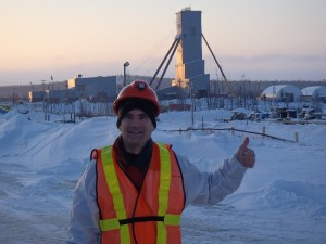 André Gaumond, President of Virginia in front of Eleonore (Photo: Virginia Mines)