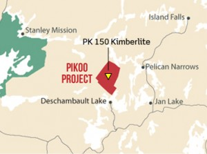 Pikoo is a new diamond discovery in Saskatchewan (Image: North Arrow Minerals)
