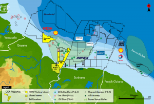 CGX is in the basin with majors and super-majors including Shell, Tullow and Inpex (Image: CGX Energy)
