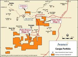 Avanco's staged high-grade copper projects map (Source: Avanco Resources)