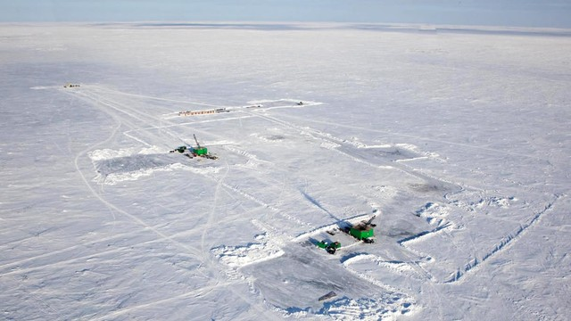 Diamond drilling in the Canadian Arctic (Photo: Kennady Diamonds)