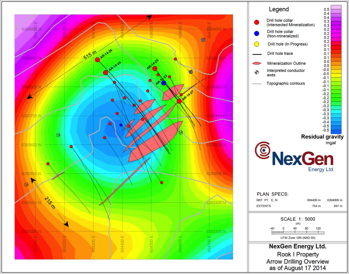 Arrow drill holes to-date (Image: NexGen Energy)