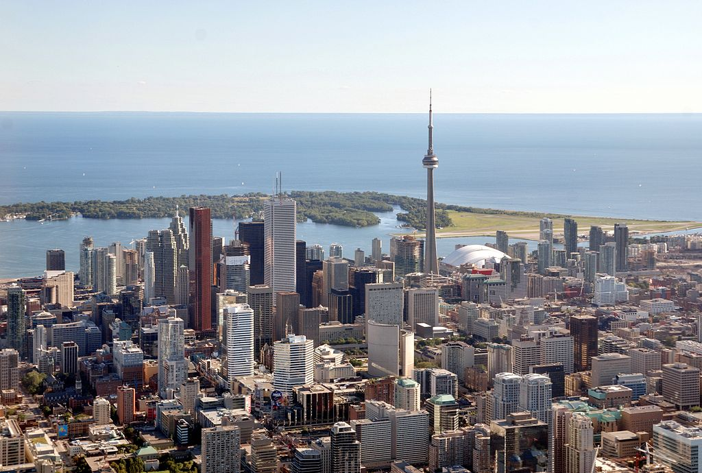 Toronto from helicopter photo source