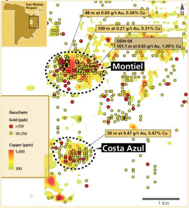 Figure 2: Location of the Montiel and Costa Azul prospects