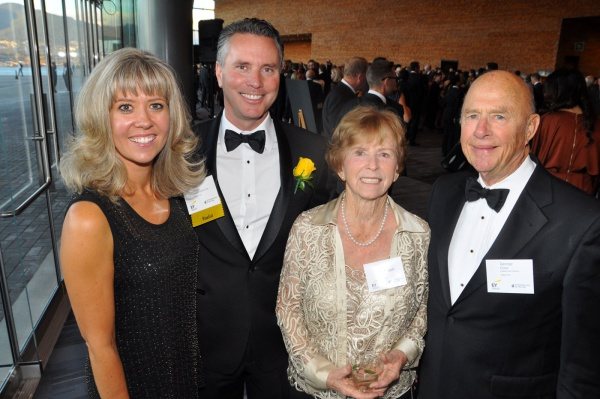 Victoria O'Dea; mining award winner Mark O'Dea, Oxygen Capital Corp. founder & chair; Miriam MacDougall; and George Cross, Haywood Securities resource specialist. (BCBusiness photo