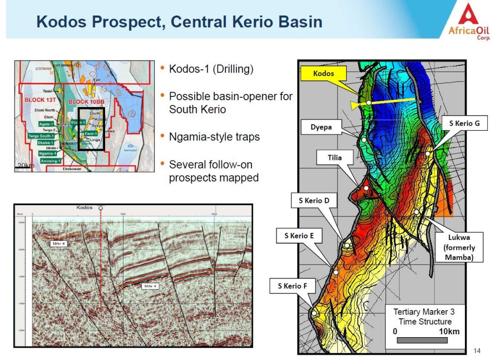 Although the Kodos-1 well didn't hit commercial oil rates, AOI and Tullow believe oil is close (Image: Africa Oil)