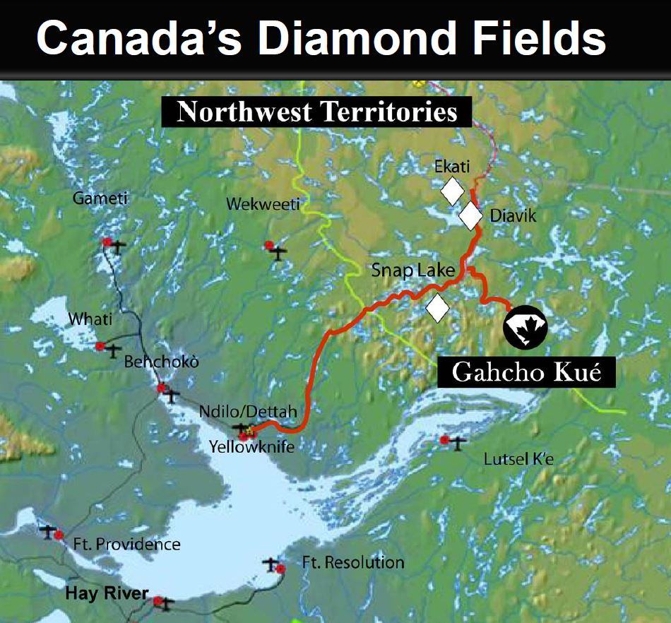 Canada's diamond fields (Image: Mountain Province)