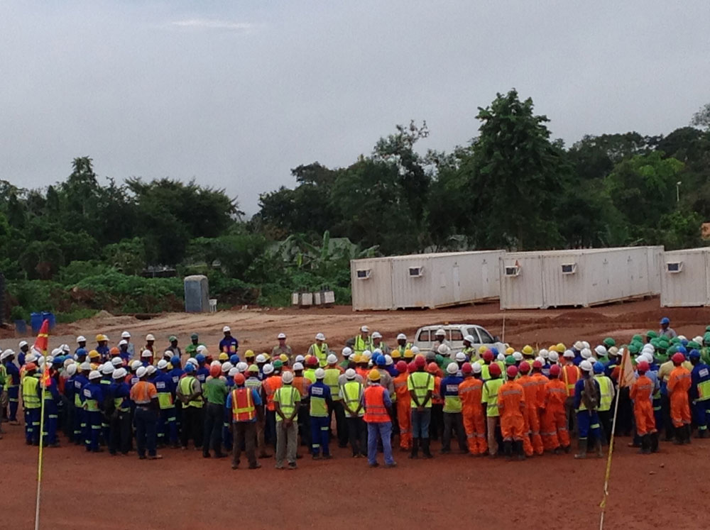 Monthly safety meeting at the Asanko gold mine site (Photo: Asanko Gold)