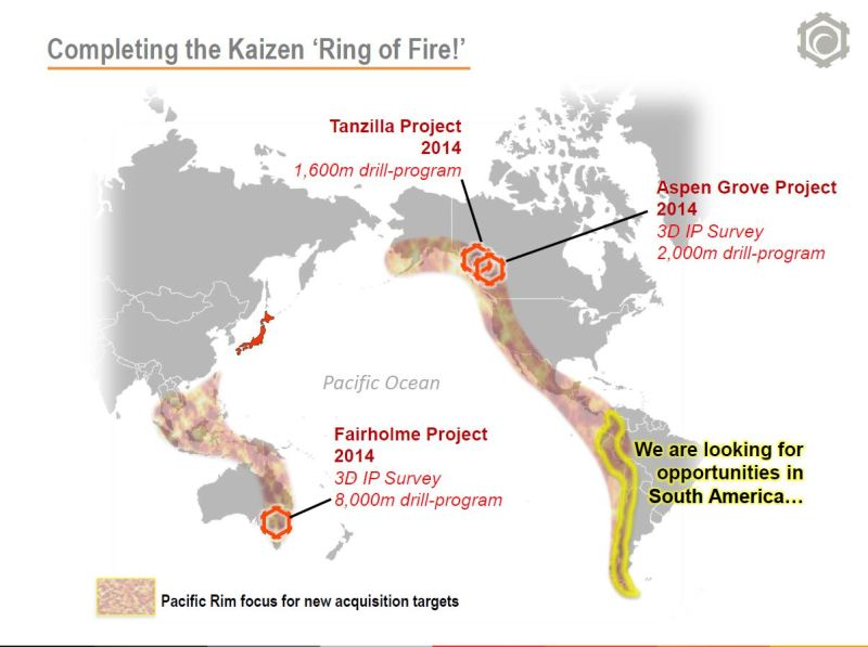 Kaizen is re-working their project portfolio to focus on high-quality assets in the Ring of Fire (Image: Kaizen Discovery)