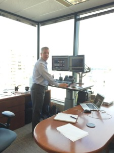John Nelson at his stand up desk