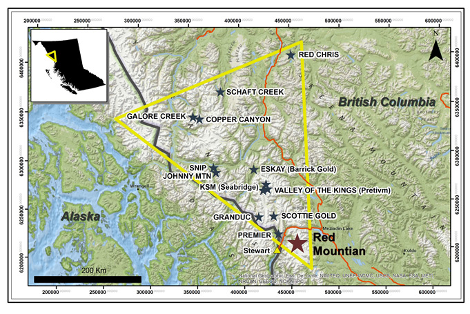 Red Mountain and the Golden Triangle in NW British Columbia (photo: IDM Mining)