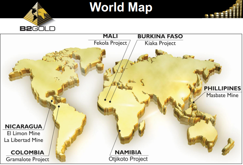 B2Gold property map