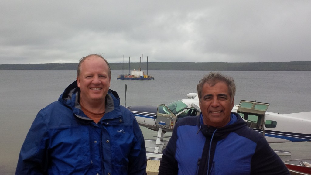 Ross McElroy (left), president, and Dev Randhawa, CEO of Fission Uranium Ltd on site at the Triple R deposit, in the Western Athabasca Basin, Saskatchewan