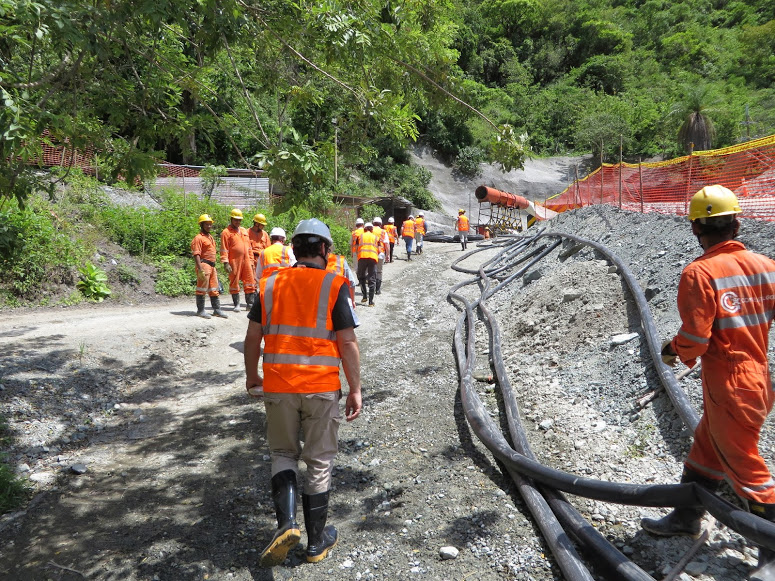 Ari Sussman approaches the Higabra valley tunnel at Continental's Buriticá project, Colombia