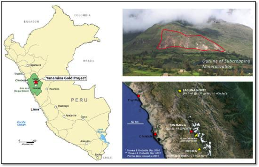 Source: www.wealthminerals.com (Location of the Yanamina Gold Deposit)