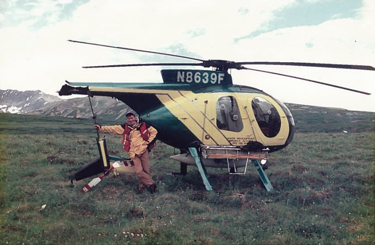 Geologist Rob McLeod survives a 1995 helicopter crash in Canada