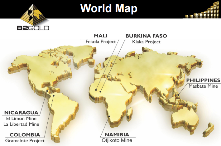 Gold Mines In World Map.Thursday Morning News B2gold And Teck Resources Ceo Ca