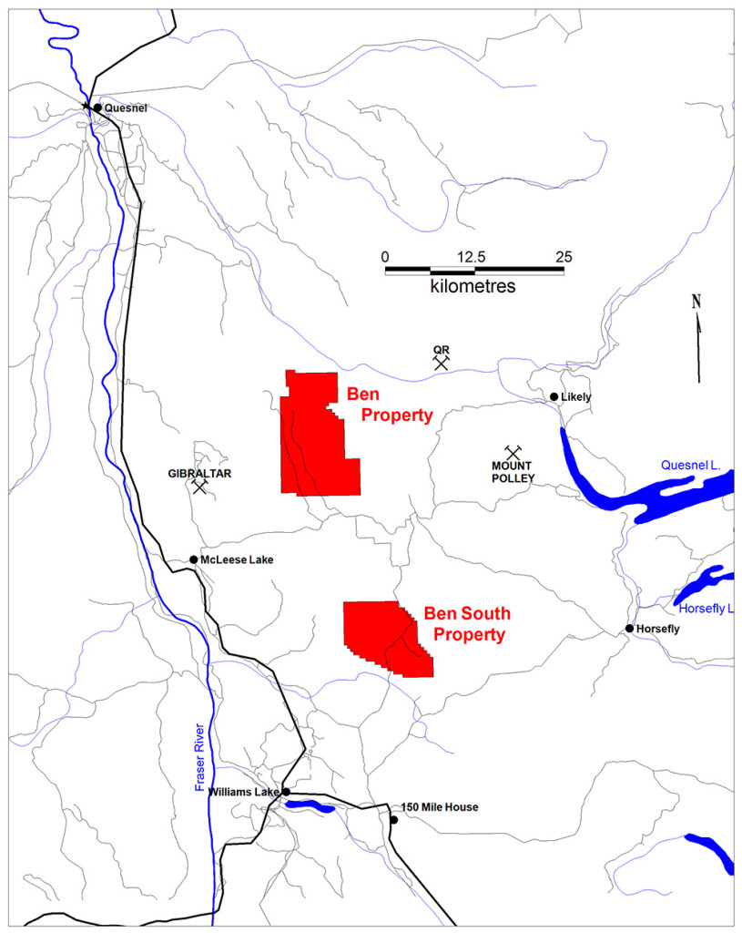 Westhaven Ventures Nickel properties north of Williams Lake BC