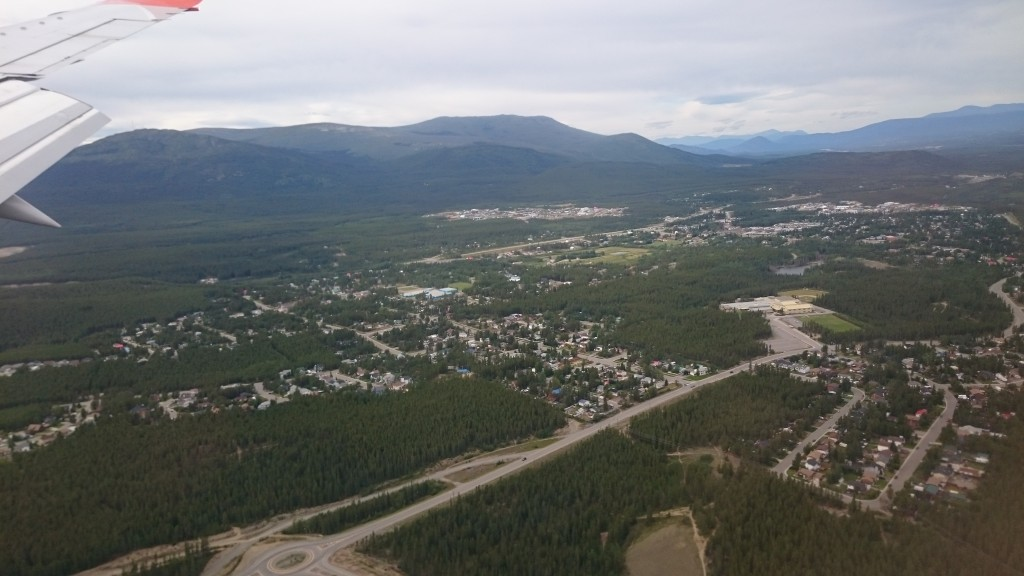 2.5 hours after leaving Vancouver, landing in the capital of the Yukon, Whitehorse – Population 27,000 (Source: CEO.ca)
