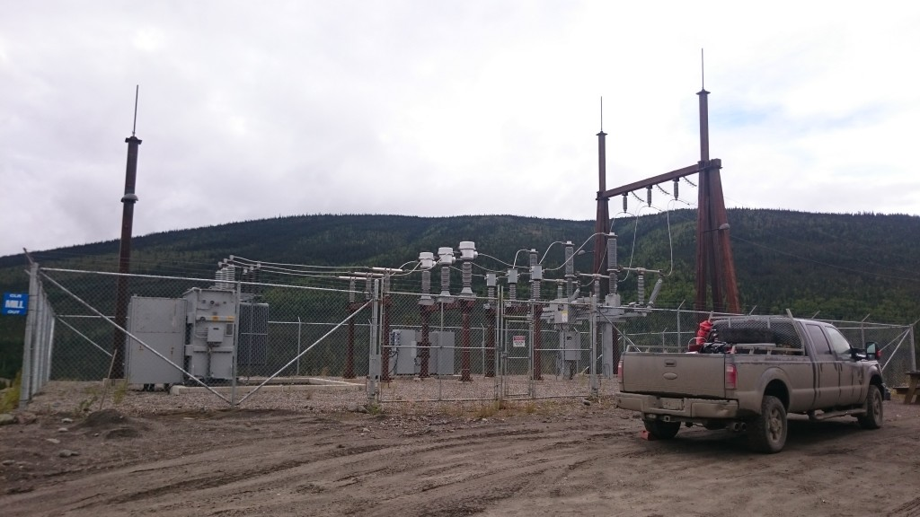 Alexco's processing plants power source which taps into the Yukon electric grid. Fully built and functioning.