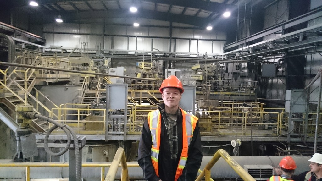 Touring the Alexco mill. Alexco will be quick to restart production once silver prices rise to a profitable level.