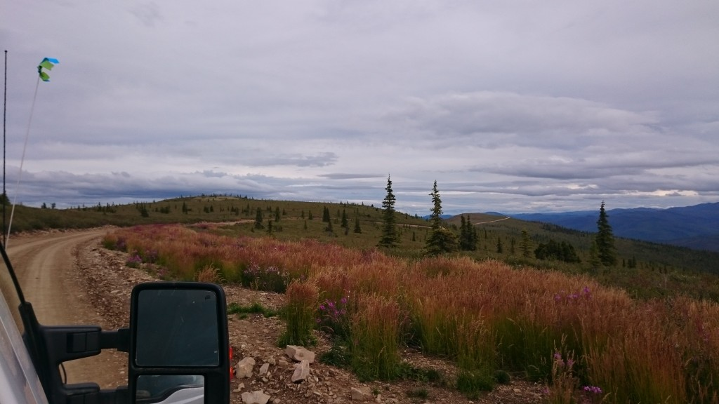 Driving back to camp from Supremo on the 23Km road Kaminak built which cost approx. $1.15M. The deposits are situated on flat rolling hills making it easy to explore. (Source: CEO.ca)