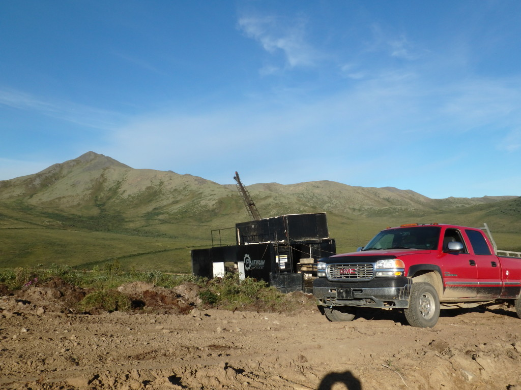 Truck with drill at Western BRX Zone (Source: Rockhaven Resources)