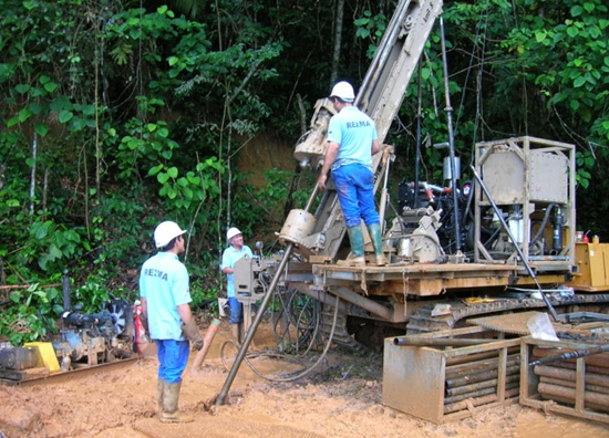 Drilling at Columbus Gold's Paul Isnard project in French Guiana.