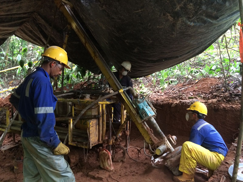 RAB drilling at Cordoba Minerals' San Matias project