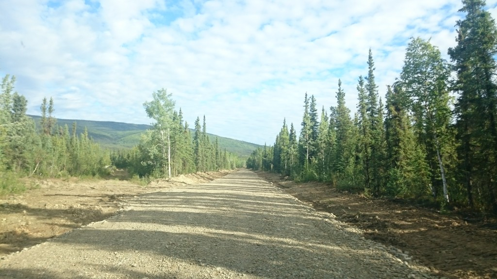 Driving on the government maintained Forest Service Road to access Victoria's Eagle Project