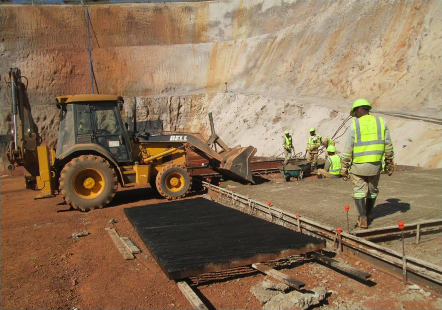 Construction of box cut for underground access to proposed Kamoa mine. Ivanhoe Mines photo