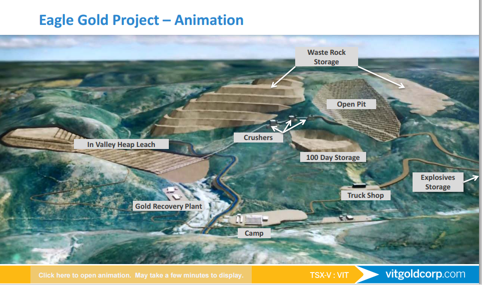 Visual Animation of Proposed Mine Plan (Source: Victoria Gold)