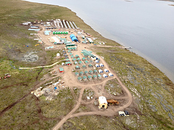 Sabina's Goose Lake camp at the Back River gold project. Photo: Northern News Services Online