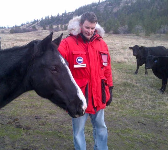 Toronto-based hedge fund manager Warren Irwin at his ranch in the Central Okanagan, B.C.