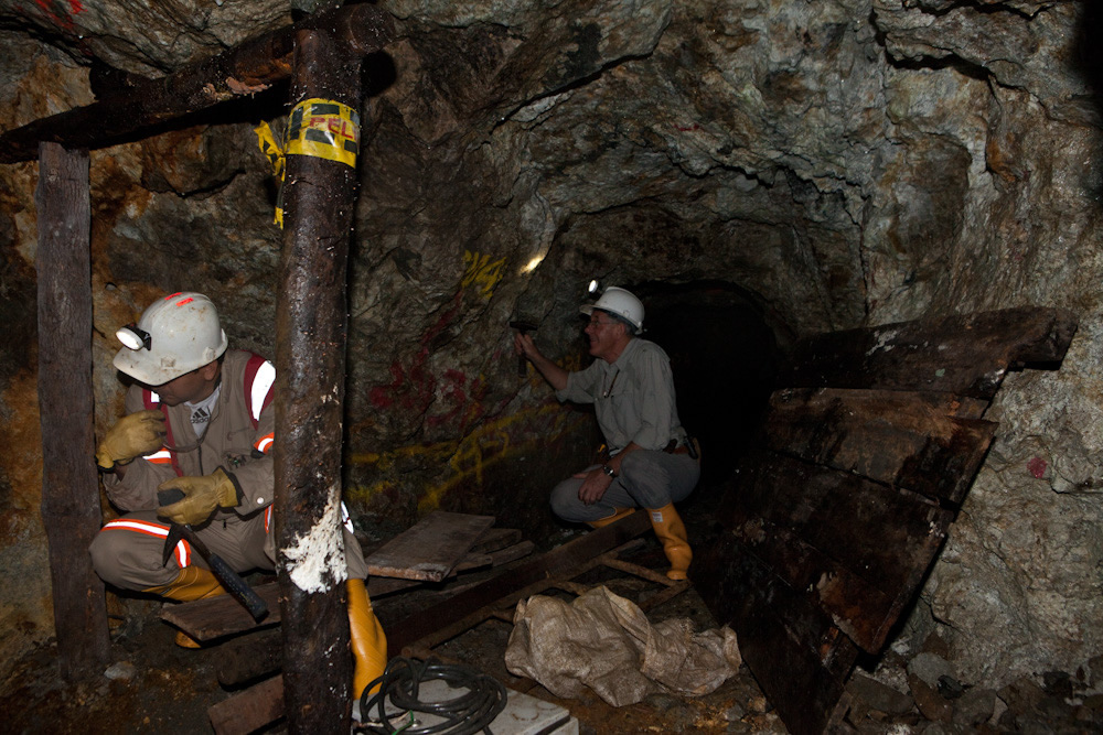 Exploration drifts trace the San Antonio vein at Continental Gold's Buritica project.