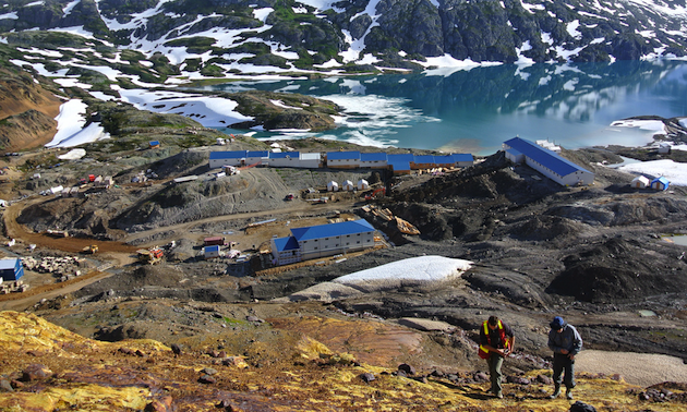 Construction at Pretium's Brucejack high-grade gold mine project, one of the success stories cited by Liberal MLA Ralph Sultan.