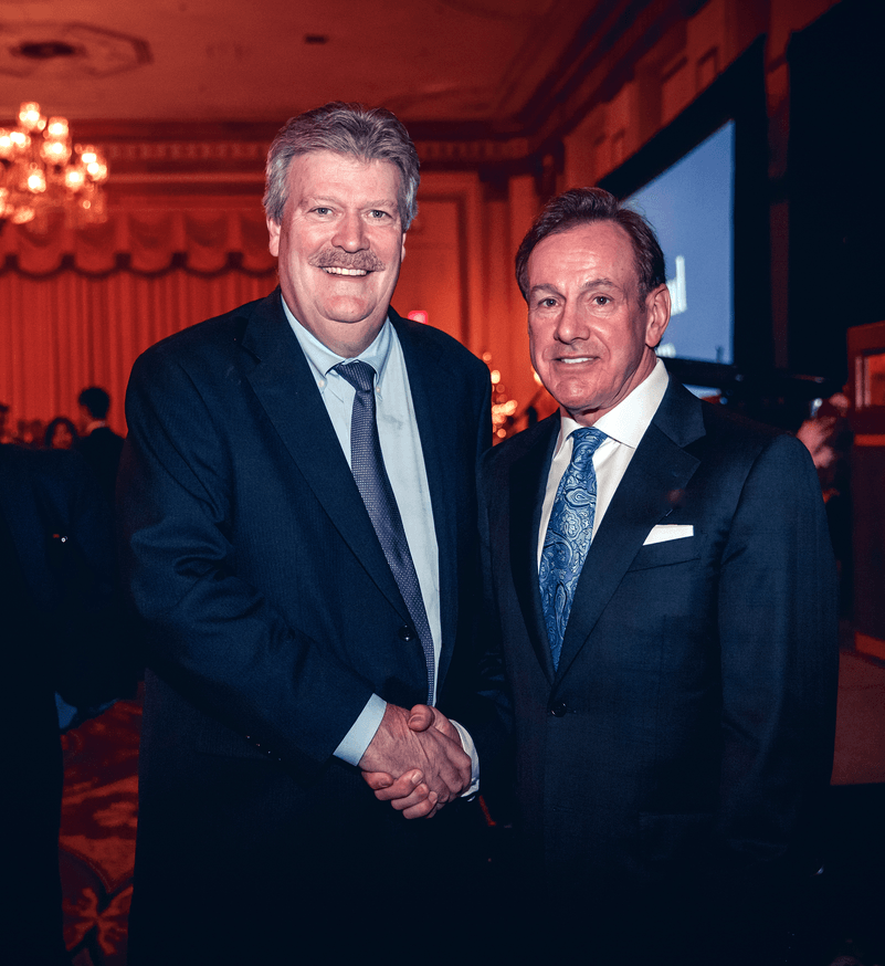 Hon. Rich Coleman (Minister of Natural Gas Development and Minister Responsible for Housing and Deputy Premier) and Kevin England at the Hotel Vancouver - Nov 26, 2015. Photo: Nima Zedrafi