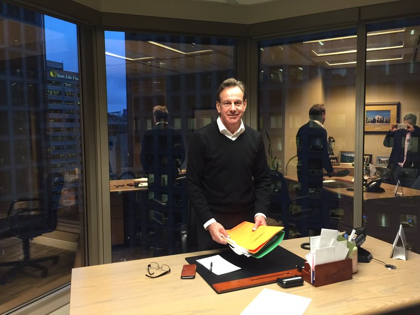 Kevin England at The England Group's Vancouver office - November 2015 (CEO.CA photo)