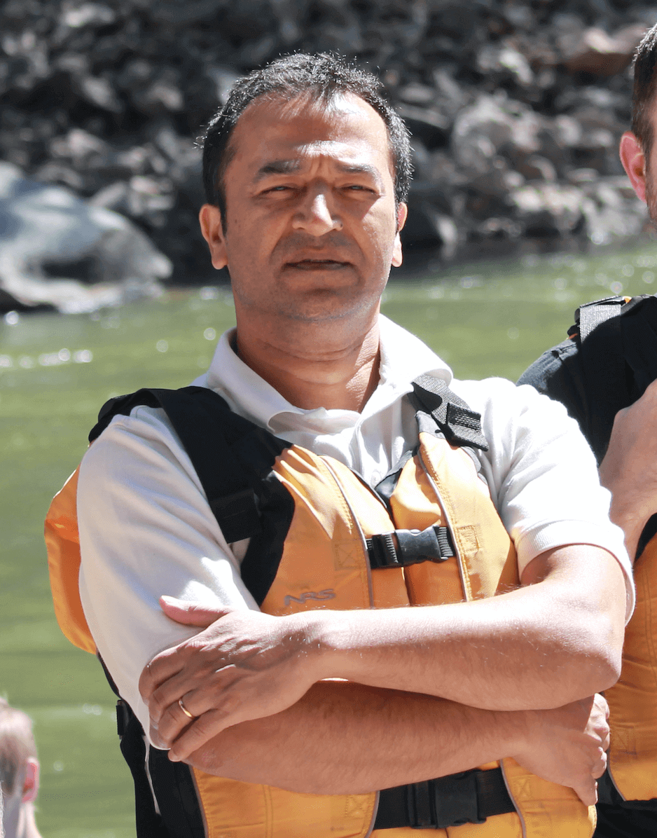 Mining analyst Joe Mazumdar on a rafting trip with friends