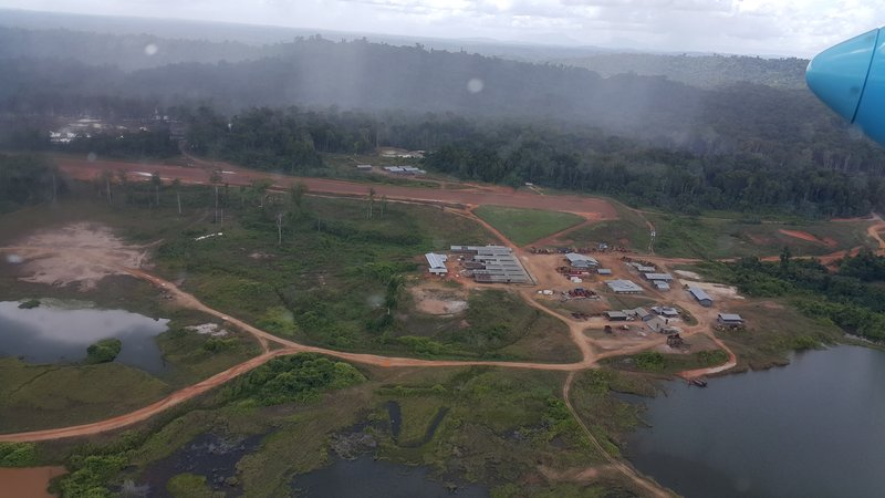 The Toroparu project from the air. Note the camp has its own air strip now.